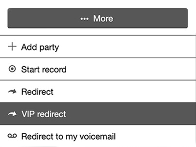 Redirection VIP