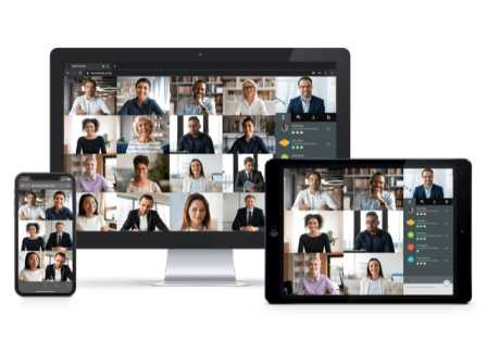 Enreach Meetings now offers a range of improvements – new grid view shows up to 25 videos simultaneously