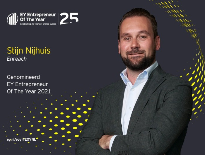 Stijn Nijhuis, CEO Enreach, nominated as EY Entrepreneur of the Year