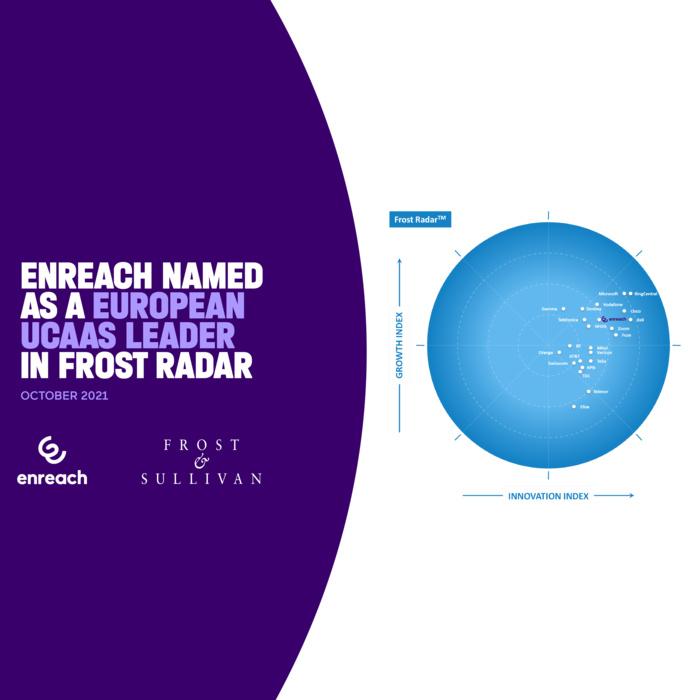 Enreach climbs rankings, again named as a European UCaaS leader by Frost and Sullivan